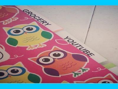 Staying Organized w. a DIY Tabbed Notebook (07.07.13)