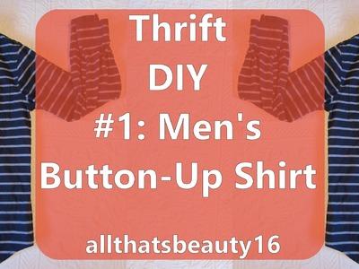 Thrift DIY #1: Men's Button-Up Shirt ♡ 2014 | allthatsbeauty16