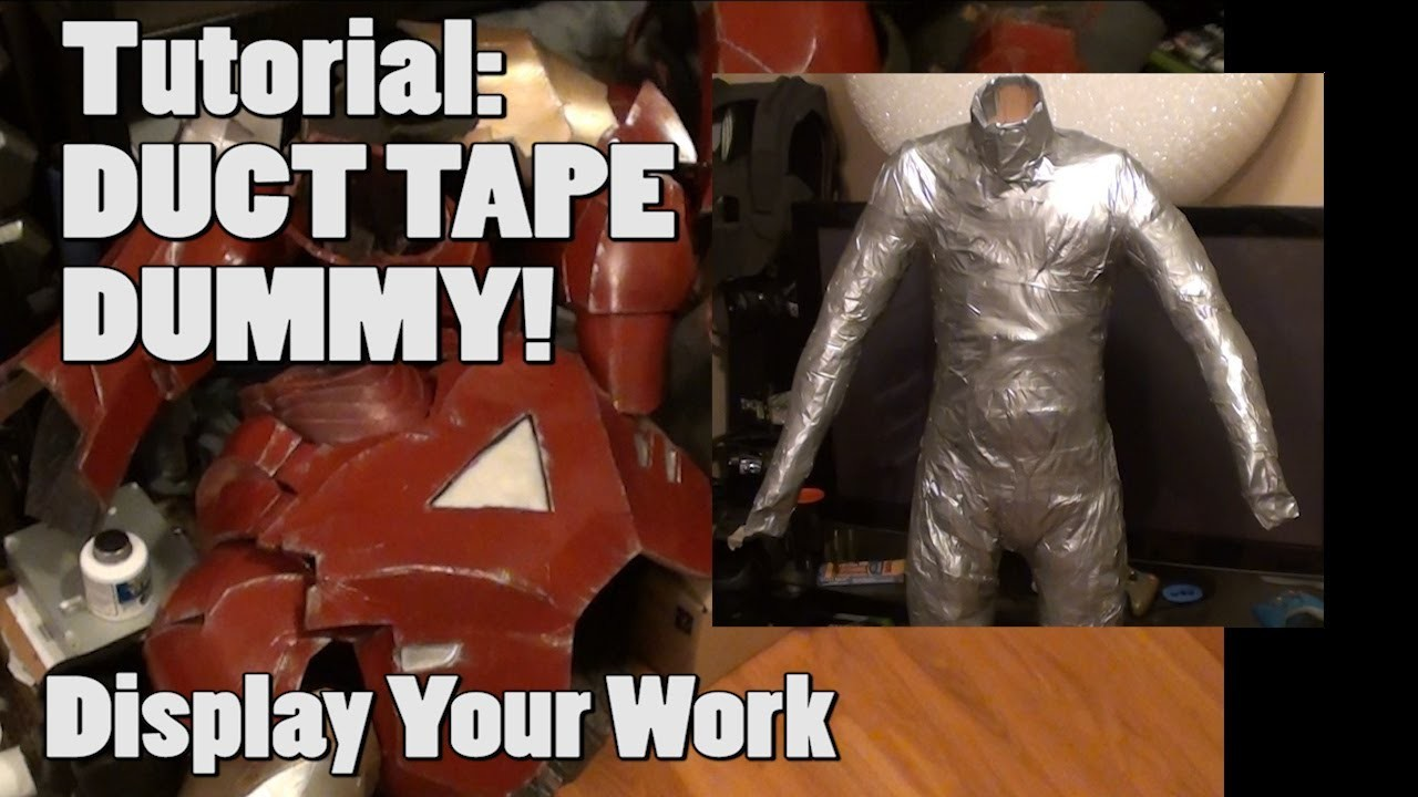 "TUTORIAL - ""Display it!"" - Duct Tape Mannequin For Armor Costume Display"