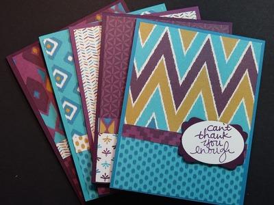Using Stampin' Up!'s Designer Series Paper to Make Greeting Cards