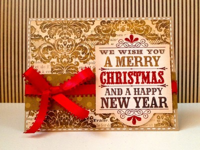 We wish you a Christmas and a Happy New Year card - Natalie's Creations