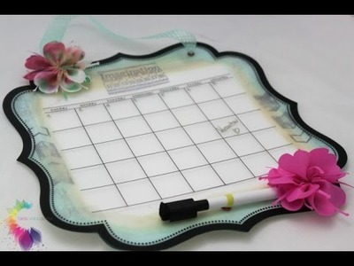 Calendario Fai da te - Scrapbooking Tutorial - Easy Calendar DIY - Scraproom Idea