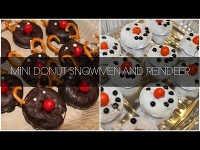 Christmas Holiday DIY: Rudolph and Snowmen Donuts!!