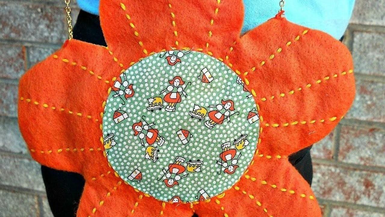 Create Your Own Mini Felt Flower Bag - DIY Style - Guidecentral
