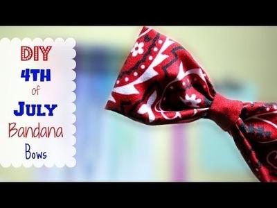 DIY 4th of July Bandana Bows | Alexa's DIY Life