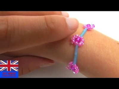 DIY Beads Bracelet Flower Tutorial: How to make a bracelet with beads?