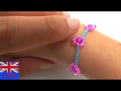 DIY Beads Bracelet Flower Tutorial: How to make a bracelet with beads?