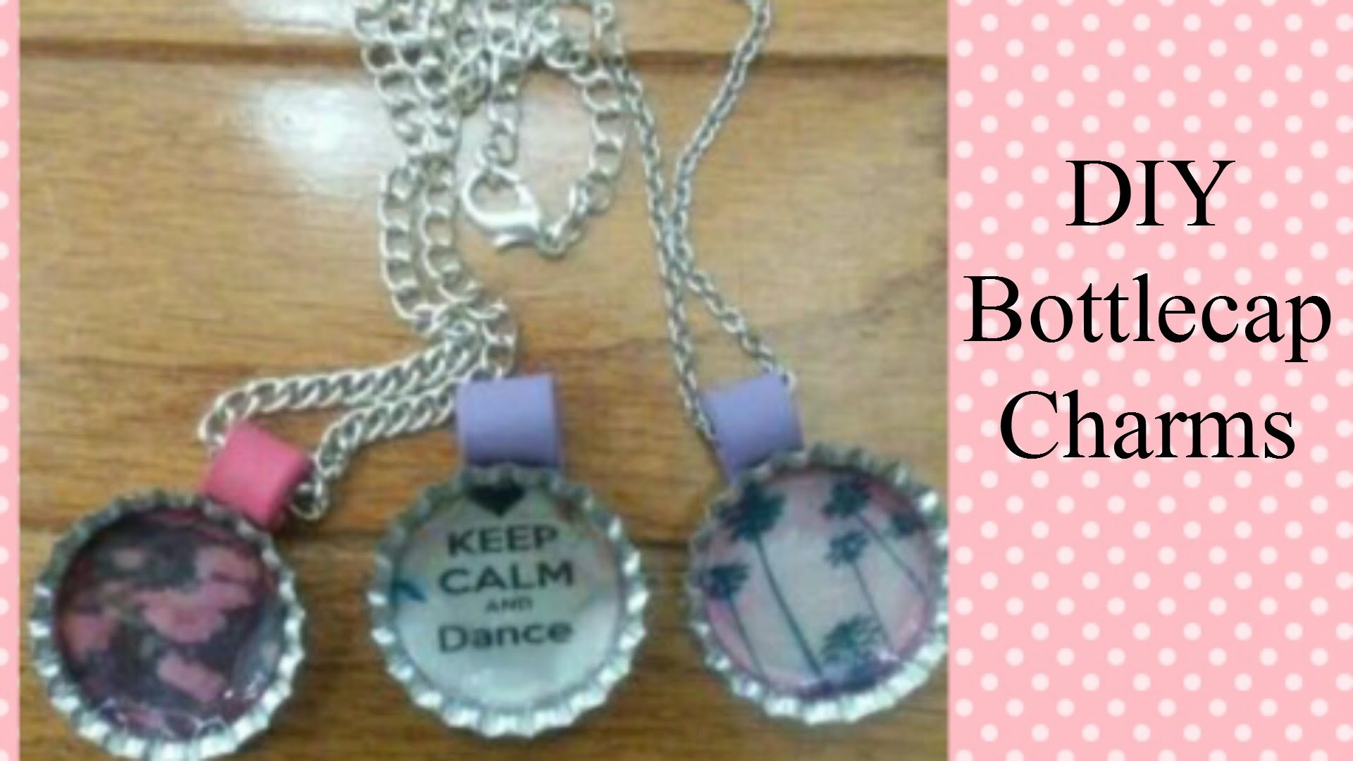 DIY Bottle Cap Charms- With Liquid Glue