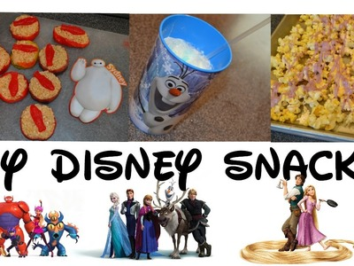 DIY Disney Movie Night Snacks- Big Hero 6, Tangled, Frozen. Oh So Sydney