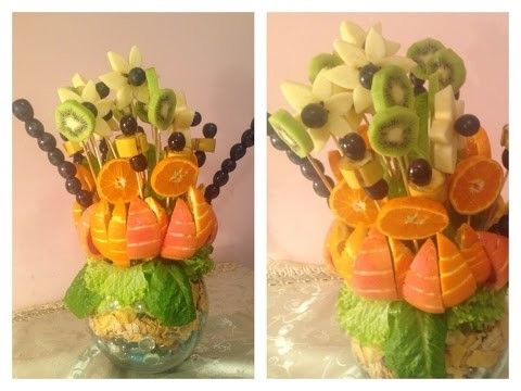 DIY How to Make a Christmas Table Fruit Bouquet