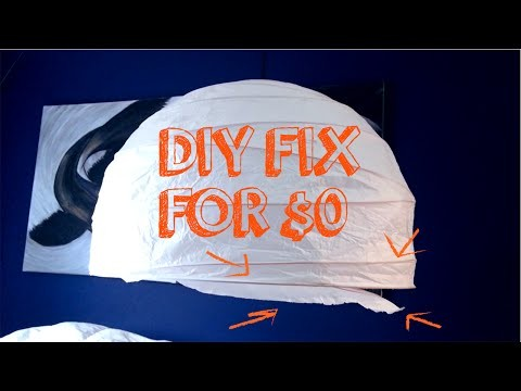 DIY Paper Lantern (Chinese Ball) Fix For $0!!