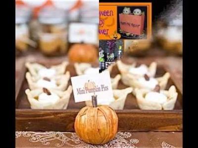 DIY pumpkin baby shower decorations