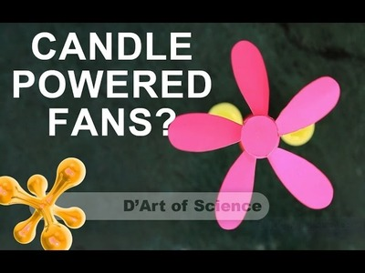 How to Make a Candle Powered motor.carousel - Cool DIY Science Experiment - dartofscience
