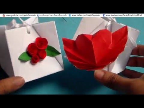 How to Make a Paper Gift Bag Easy DIY, Valentine Day