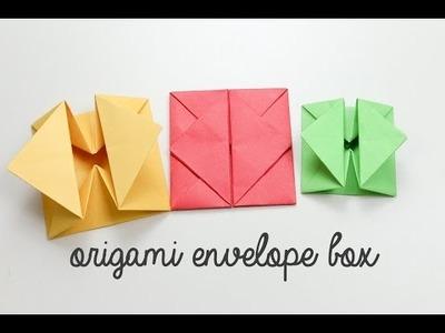 Origami Envelope Box Instructions - DIY