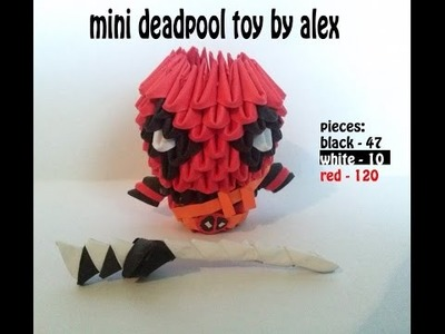 3D ORIGAMI MINI DEADPOOL  TUTORIAL BY ALEX