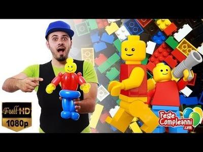 Balloon Lego Man - Palloncino Lego - Tutorial 118 - Feste Compleanni