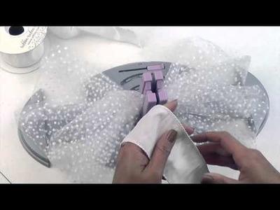 Bow Genius - Tulle & Ribbon Pew Bow Tutorial - DIY Bow Maker