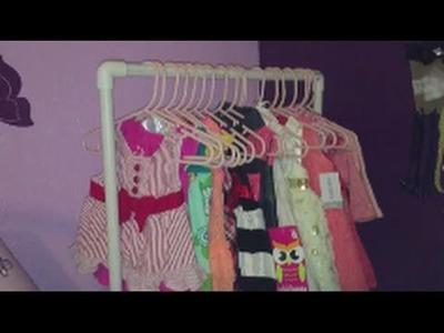 DIY Baby Clothing Rack Under $5