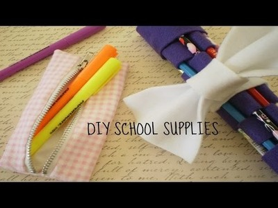 DIY Back to School Supplies! -Pouches and Heart Bookmark