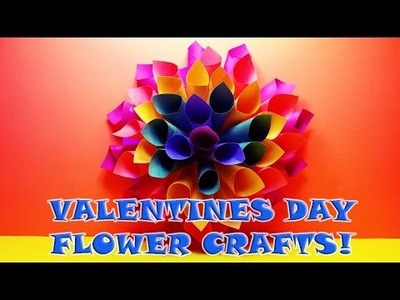 DIY: How to Make HOMEMADE PAPER VALENTINES DAY CRAFT FLOWERS!