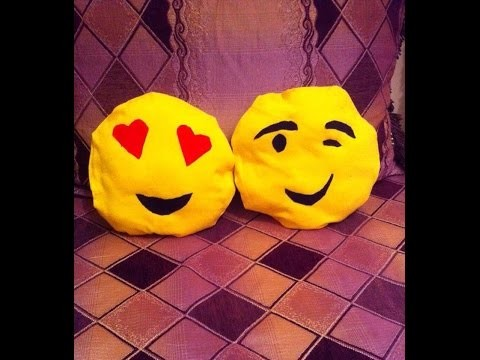 Easy DIY : imoji pillows. DIY facile : coussin smiley