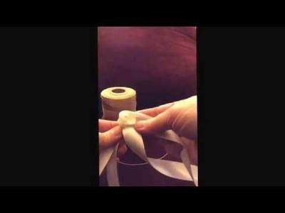 Ribbon rose tutorial using the cedar bark rose technique