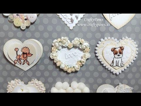Sweet DIY Valentines Embellies: Diemond Dies DTP + vr to C's Vintage Gifts & More