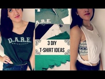 3 Easy DIY T-Shirt Ideas! | tewsimple