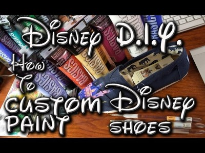 Disney DIY | How to Custom Paint Shoes Disney: Disneyland's Sleeping Beauty Castle