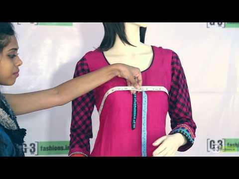 DIY - Body measurement for Salwar Kameez in 2 Steps at G3fashions