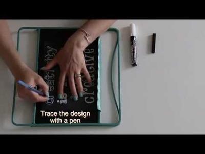 DIY Chalkboard Design :  The secret to making it easy