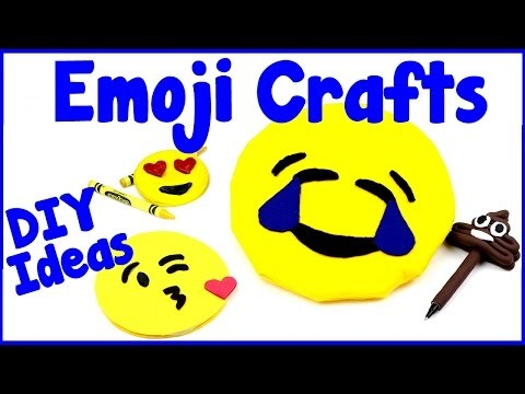 DIY Crafts: 4 Fun Emoji DIYs - School Supplies (Pens, Notebooks, Crayons, Pencil Case.Makeup Bag)