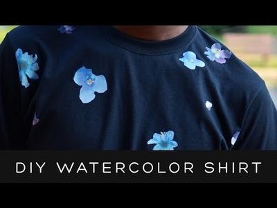 DIY FAUX WATERCOLOR FLORAL T-SHIRT | victoralexanderco