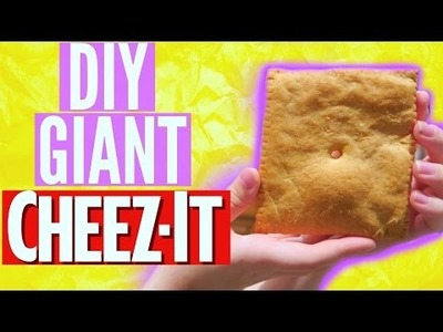 DIY GIANT CHEEZ IT!! | Katharine Ward