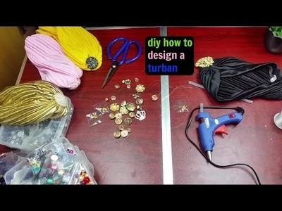 Diy how to design a turban.hat winter fashion valentine gift tag