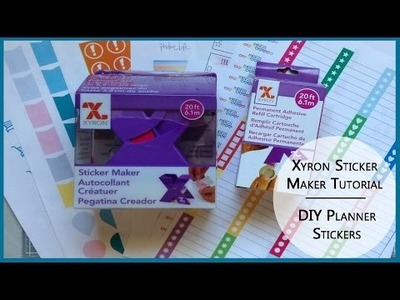 DIY Planner Stickers Using Xyron Sticker Maker