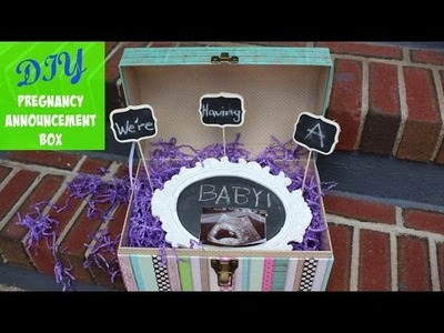 DIY Pregnancy Announcement Box for Siblings | MommyTipsByCole