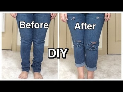 DIY: Ripped Jeans | HOW TO: DISTRESSED DENIM JEANS (EASY)