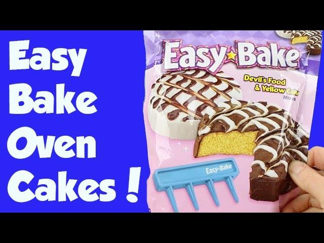 Easy Bake Oven Fancy Swirl Chocolate and Yellow Cake How To DIY