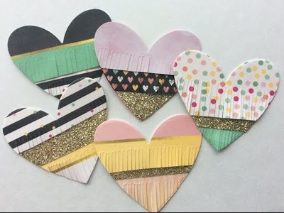 Fringed Heart DIY Scrapbook Embellishments DT Project Not2ShabbyShop