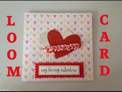 Loom bands HEART Friendship card Tutorial l JasmineStarler