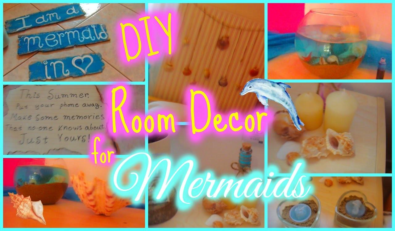 Make your room like a mermaid's! DIY room decor!