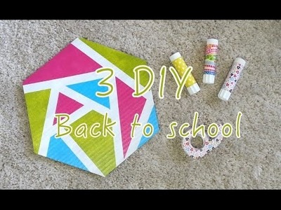 3 DIY Back to school Customiser Colle Scotch Tapis de souris