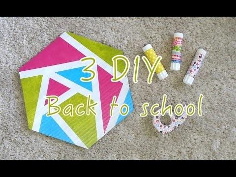 3 DIY Back to school Customiser Colle Scotch Tapis de souris