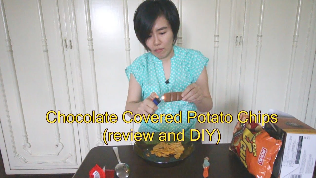 Chocolate covered potato chips (Royce' and DIY ones)