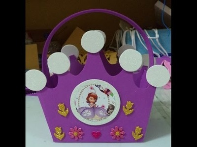 Como hacer Dulcero Corona Princesa Sofia - DIY how to make a crown