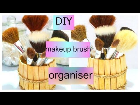 Diy Clothespin Makeup Brush Holder
