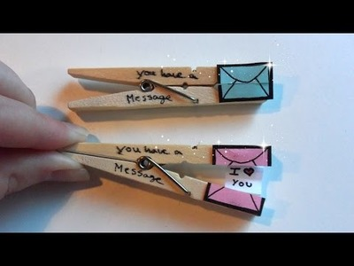 DIY Clothespins With A Message
