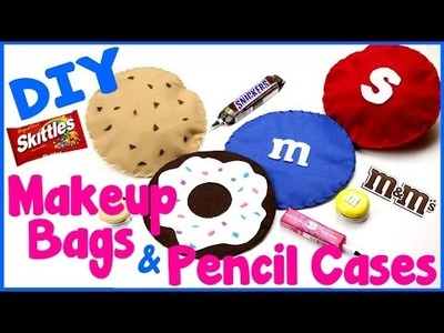 DIY Crafts: 4 Easy DIY Pencil Cases & Makeup Bags -Candy, Cookies, Donuts -Cool & Unique Craft Idea